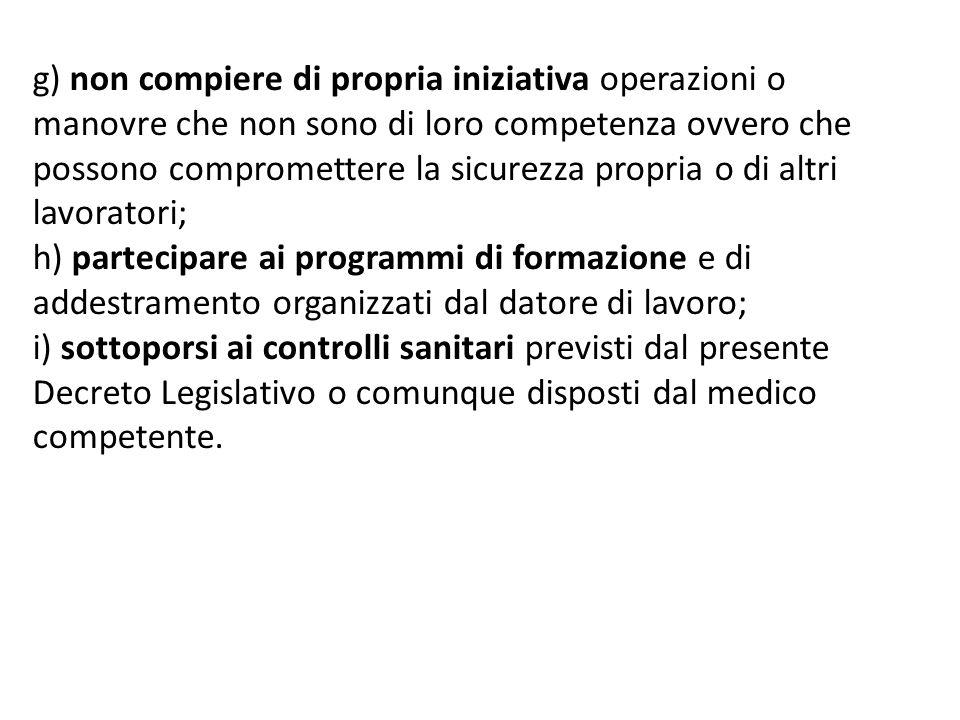 Obblighi dei lavoratori riguardo all uso dei dispositivi di protezione individuali (DPI) 1.