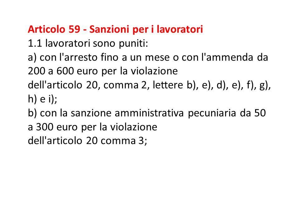 Articolo 55 - Sanzioni per il datore di lavoro e il dirigente