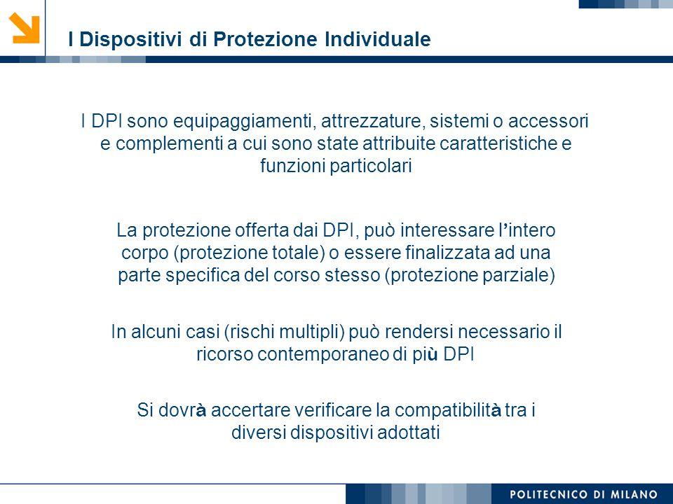 Mirvana Lauria I Dispositivi di Protezione Individuale I DPI sono equipaggiamenti, attrezzature, sistemi o accessori e complementi a cui sono state at