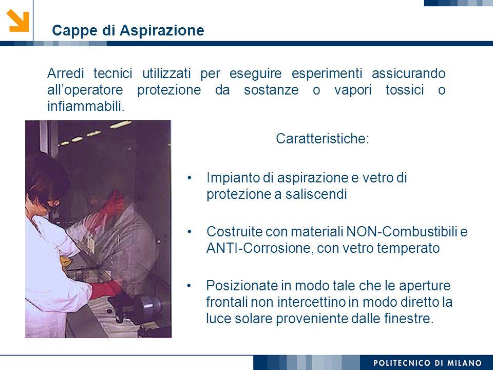 Mirvana Lauria Arredi tecnici utilizzati per eseguire esperimenti assicurando alloperatore protezione da sostanze o vapori tossici o infiammabili. Car