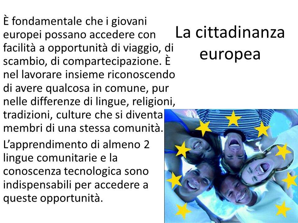 La cittadinanza europea È fondamentale che i giovani europei possano accedere con facilità a opportunità di viaggio, di scambio, di compartecipazione.