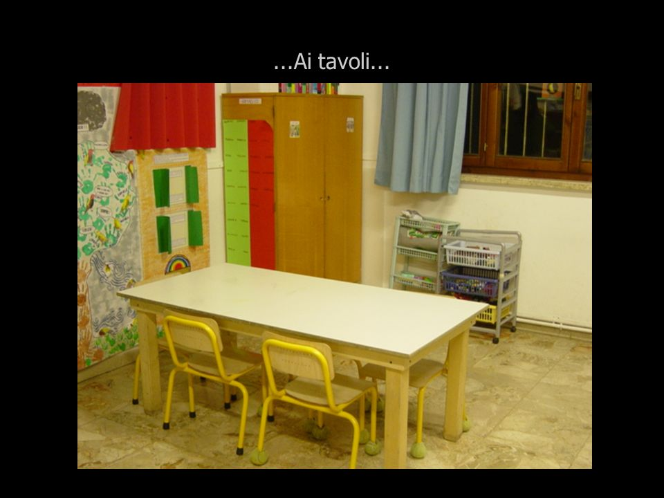 ...Ai tavoli...