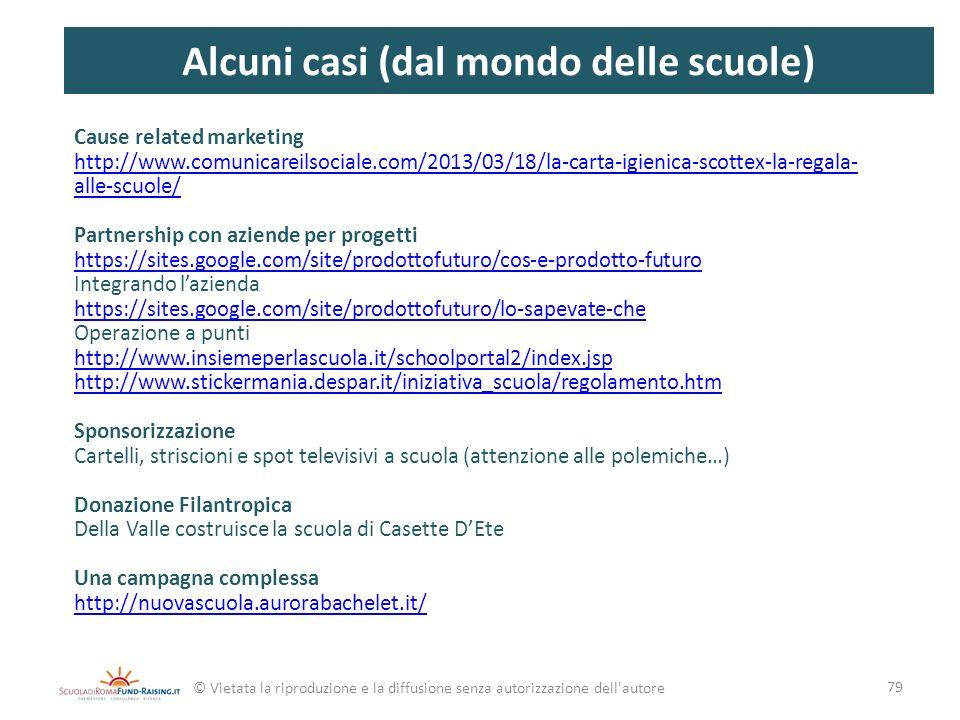 Cause related marketing http://www.comunicareilsociale.com/2013/03/18/la-carta-igienica-scottex-la-regala- alle-scuole/ Partnership con aziende per pr