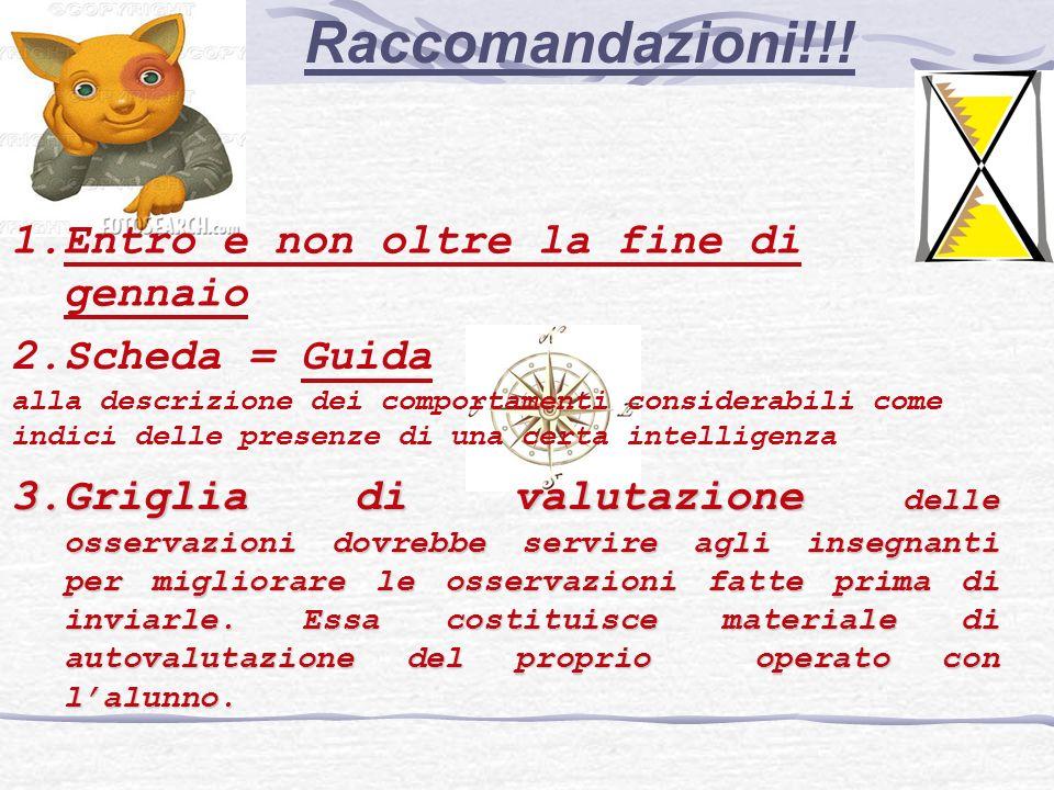 Raccomandazioni!!.