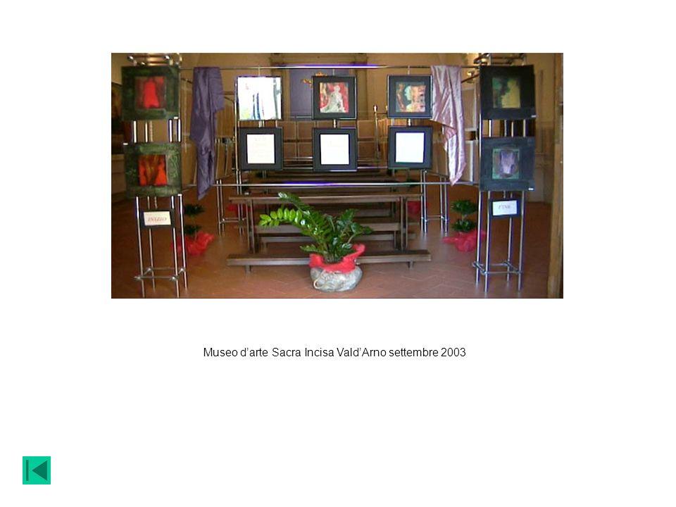Museo darte Sacra Incisa ValdArno settembre 2003