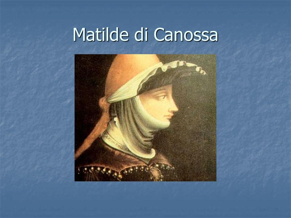 Matilde di Canossa va incontro al vescovo di Modena, miniatura dalla Relatio de innovatione ecclesia sancti geminiani, inizio del XII secolo, Modena, Archivio capitolare, ms.