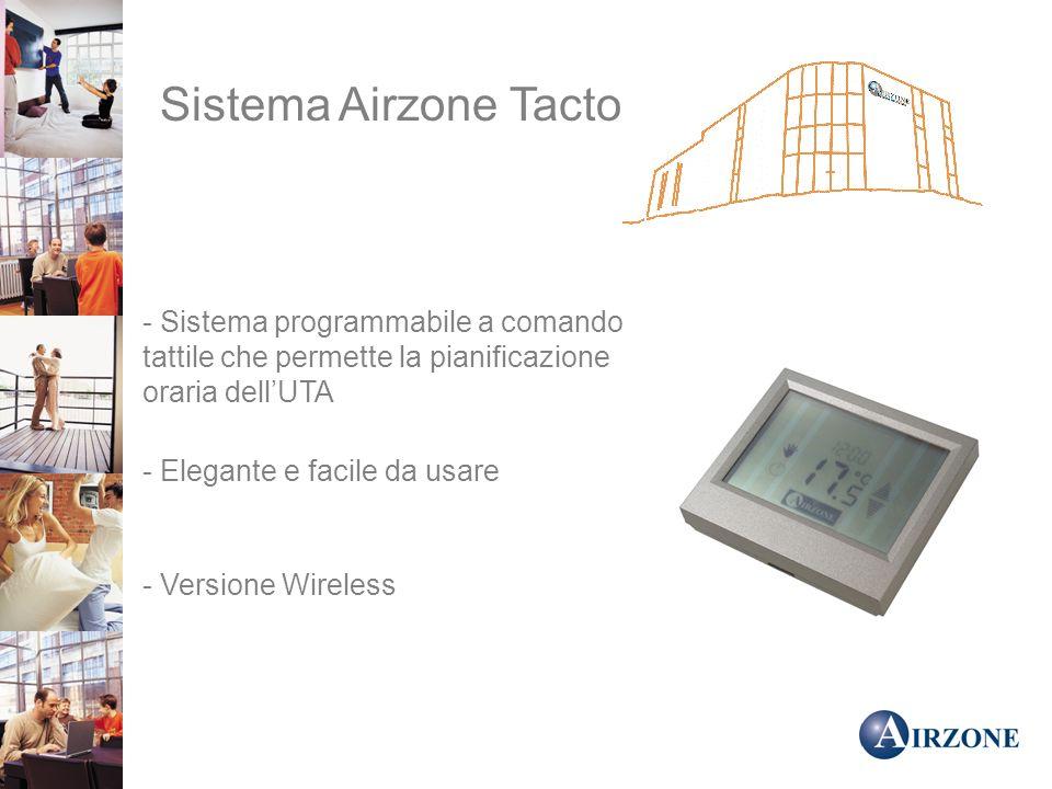 Sistema Airzone Tacto - Sistema programmabile a comando tattile che permette la pianificazione oraria dellUTA - Elegante e facile da usare - Versione Wireless