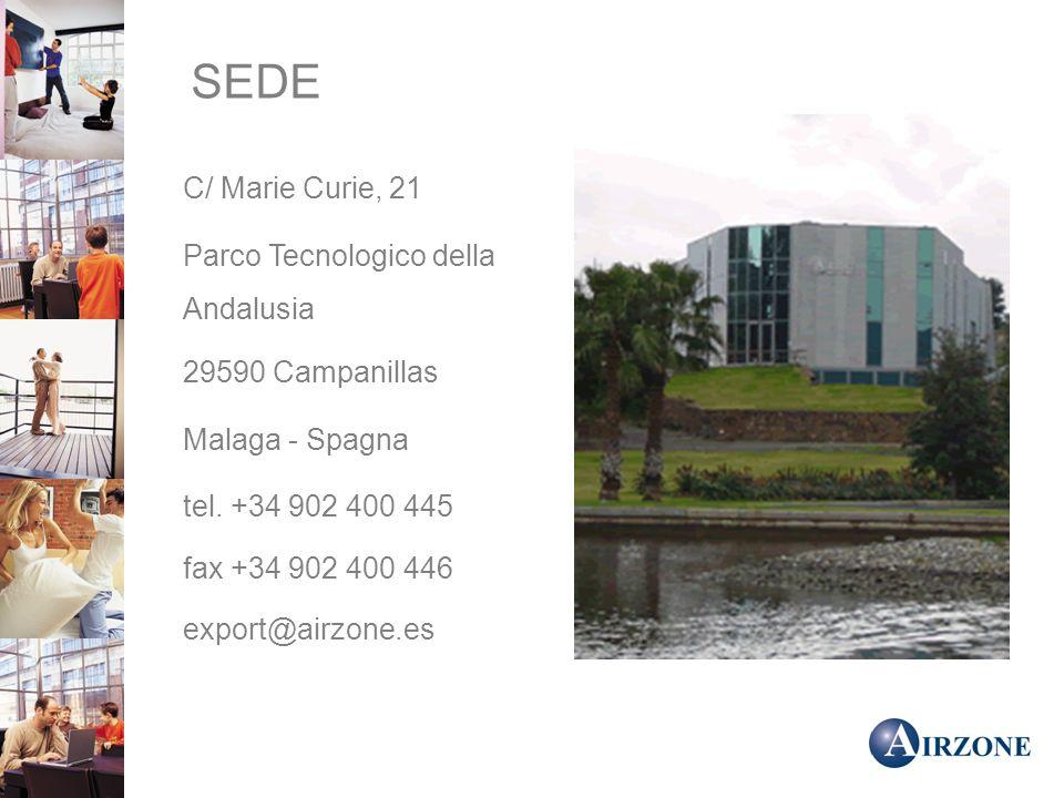 SEDE Parco Tecnologico della Andalusia 29590 Campanillas Malaga - Spagna tel.