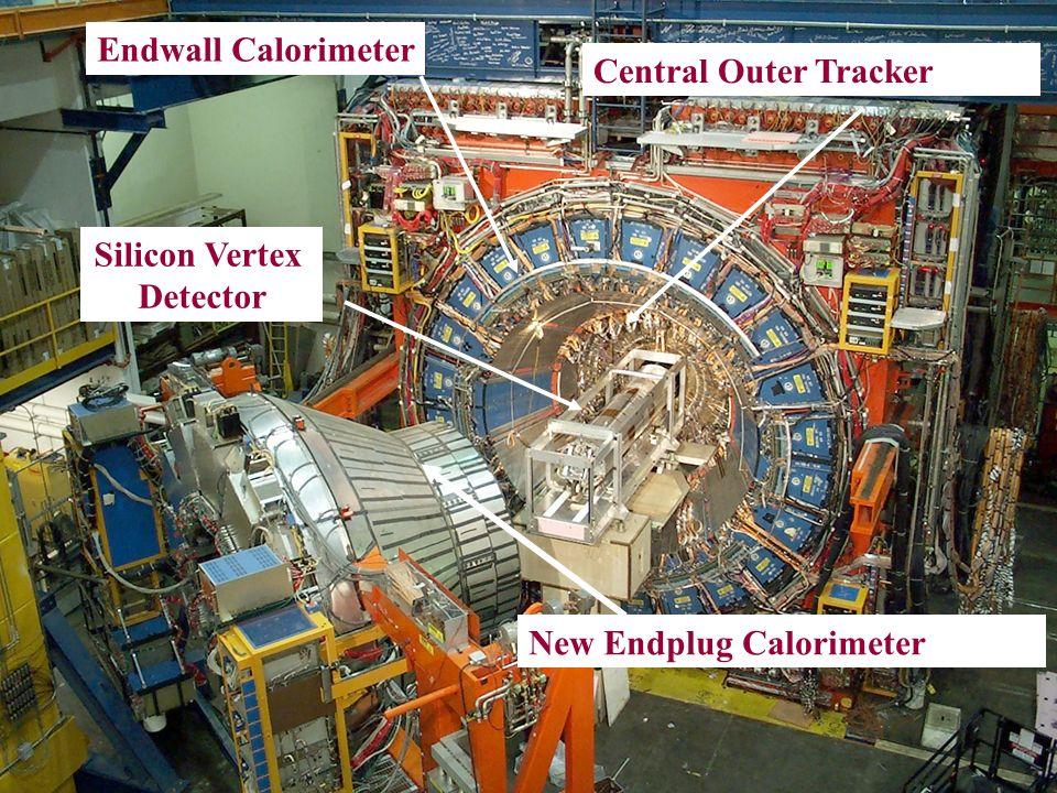 New Endplug Calorimeter Endwall Calorimeter Central Outer Tracker Silicon Vertex Detector