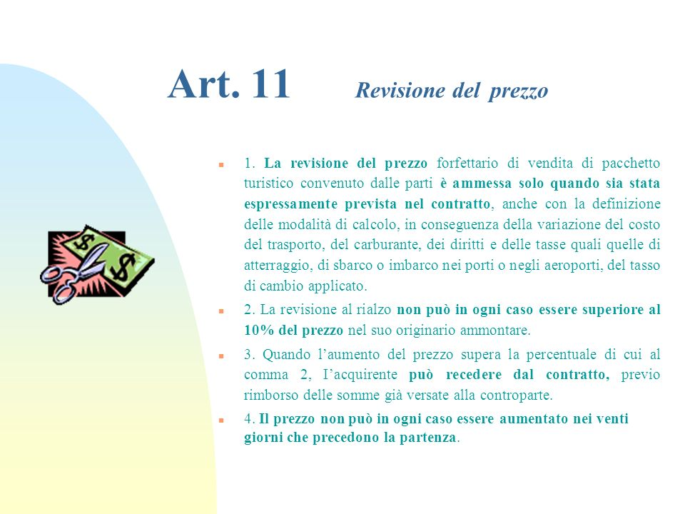 Art.11 Revisione del prezzo n 1.