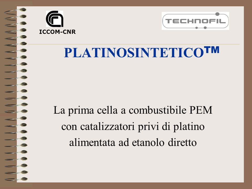 Carica-batteria per telefoni portatili costituita da da due celle self- breathing (28 cm 2 ) Platinosintetico TM alimentate ad etanolo Prima generazione Seconda generazione