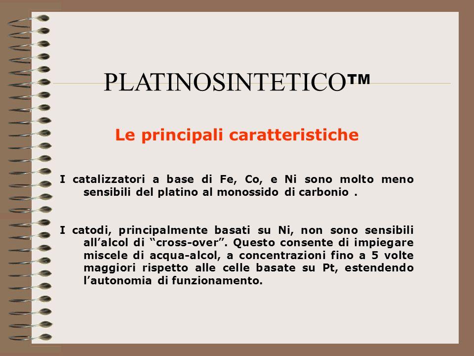 Le principali caratteristiche I catalizzatori a base di Fe, Co, e Ni sono molto meno sensibili del platino al monossido di carbonio. I catodi, princip