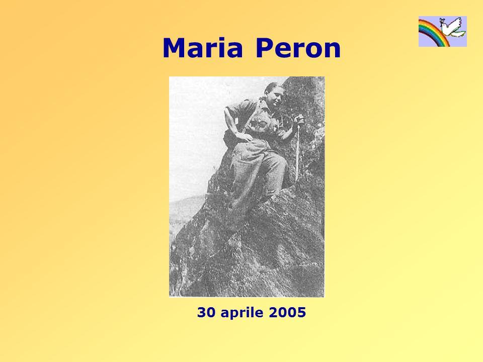 Maria Peron nasce nel 1915 a SantEufemia, frazione di Borgoricco, un piccolo paese in provincia di Padova.