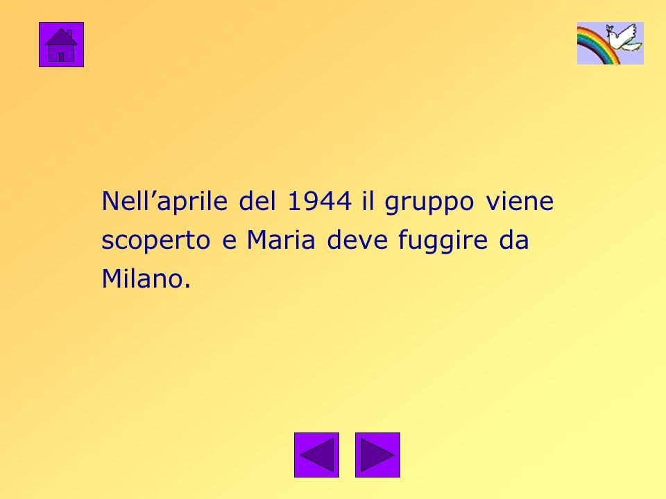 Nellaprile del 1944 il gruppo viene scoperto e Maria deve fuggire da Milano.