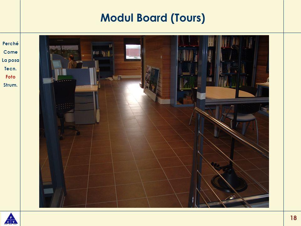 18 Modul Board (Tours) Perché Come La posa Tecn. Foto Strum.