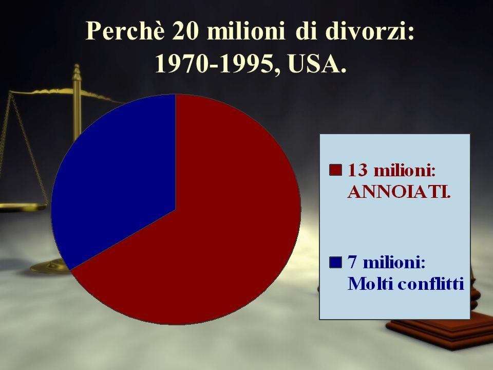 Perchè 20 milioni di divorzi: 1970-1995, USA.