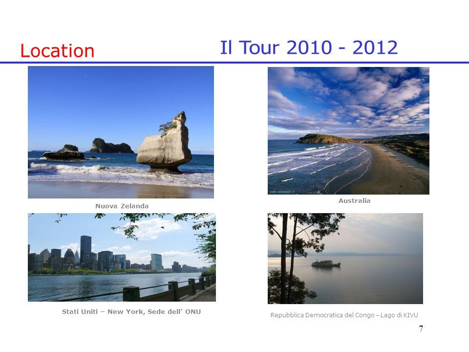Location Nuova Zelanda Australia Stati Uniti – New York, Sede dell ONU 7 Repubblica Democratica del Congo – Lago di KIVU