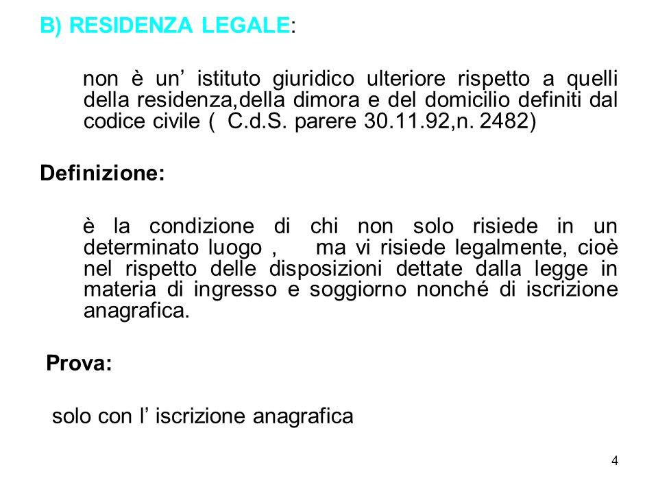 15 MINORE NATO IN ITALIA ( ART.4, C. 2, LEGGE 5.2.92, n.