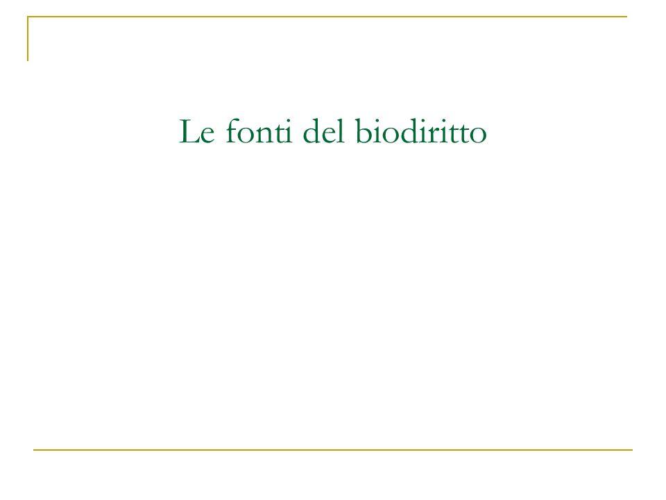 Le fonti del biodiritto