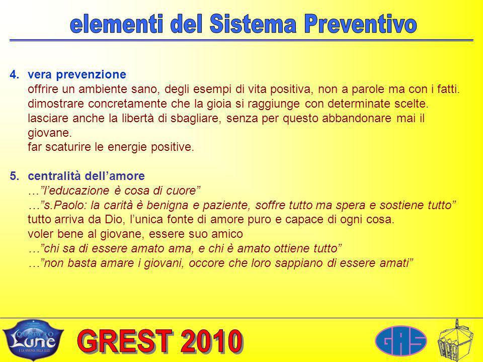 4.vera prevenzione offrire un ambiente sano, degli esempi di vita positiva, non a parole ma con i fatti.