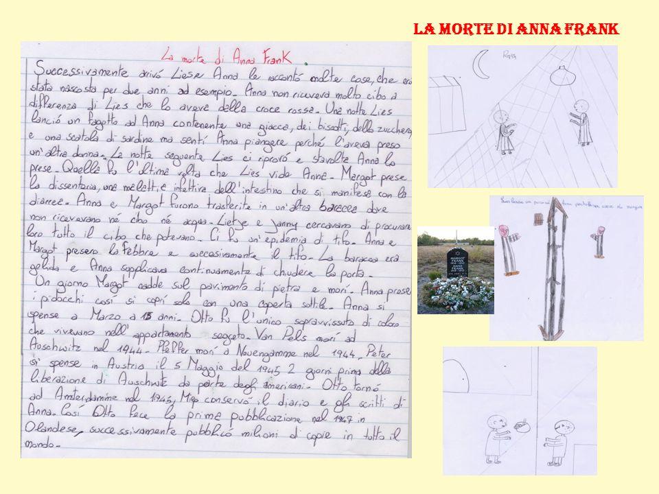 La morte di Anna Frank