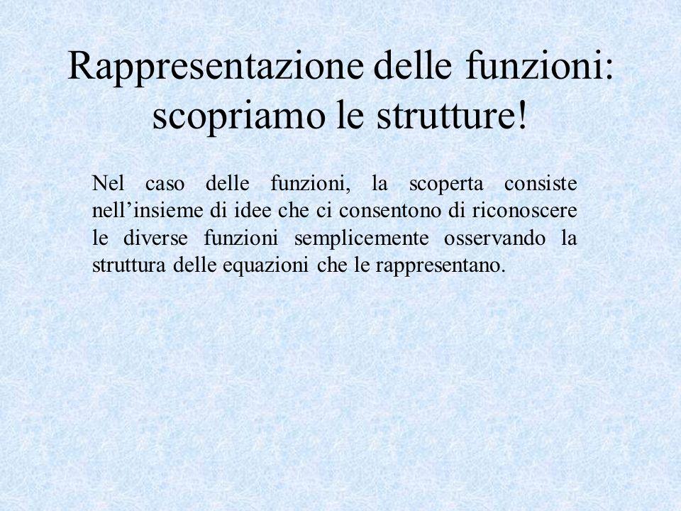 Rappresentazione delle funzioni: scopriamo le strutture.