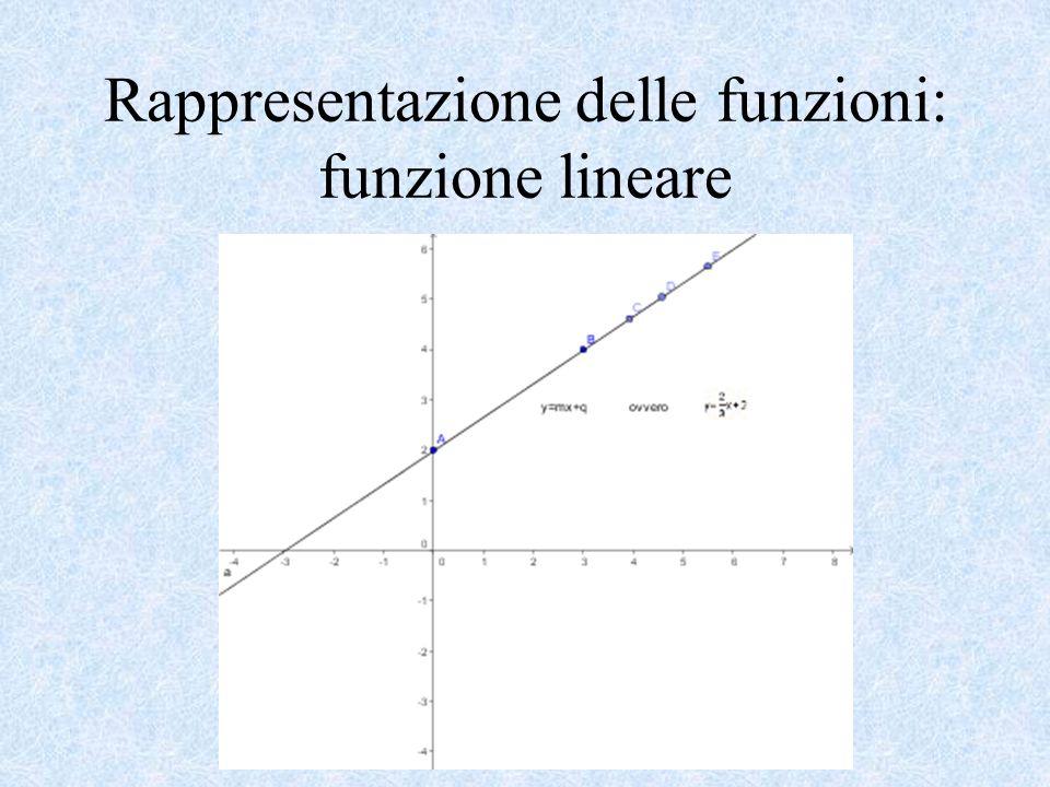 Rappresentazione delle funzioni: funzione lineare