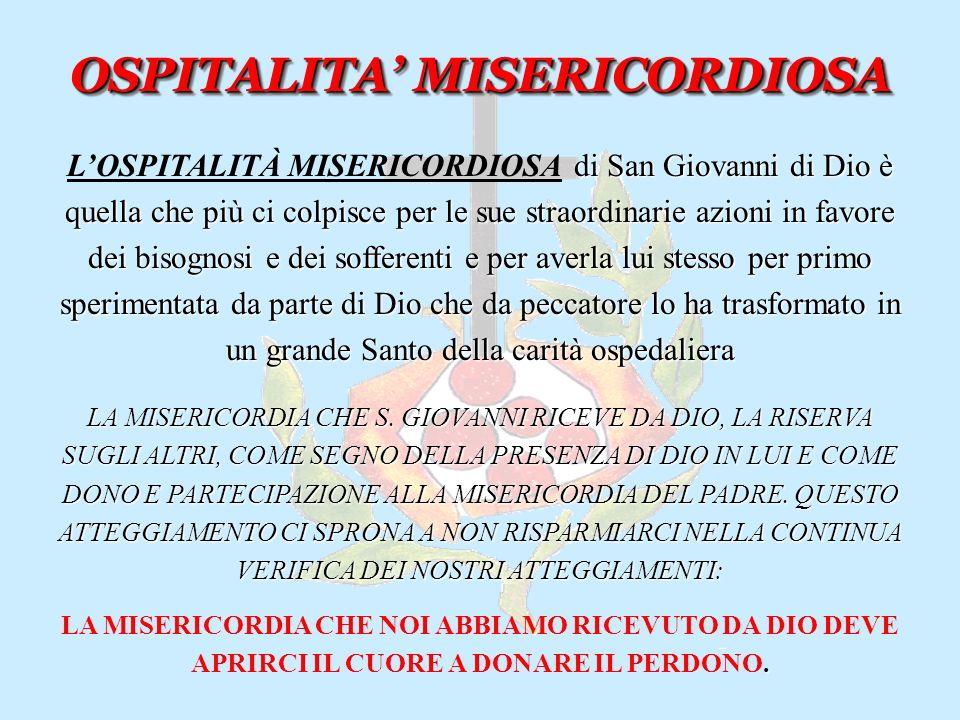OSPITALITA Fra Marco Fabello Presidio Ospedaliero Riabilitativo B.V. Consolata Fatebenefratelli
