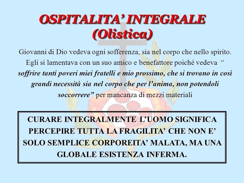 OSPITALITA CREATIVA OSPITALITA CREATIVA In una città come Granada, con quasi una decina di ospedali e case per i poveri, Giovanni di Dio riesce a scop