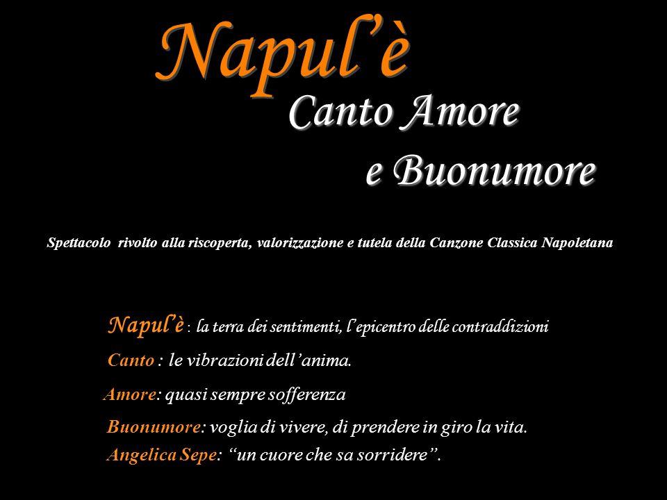 Napulè Canto Amore e Buonumore è un viaggio leggero con la voglia sincera di ritrovare il senso ed il sapore più diretto e naturale di alcune tra le più belle melodie tratte dal repertorio classico napoletano.