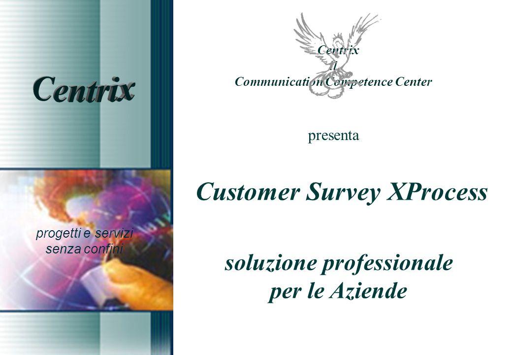 presenta Customer Survey XProcess soluzione professionale per le Aziende progetti e servizi senza confini Centrix il Communication Competence Center