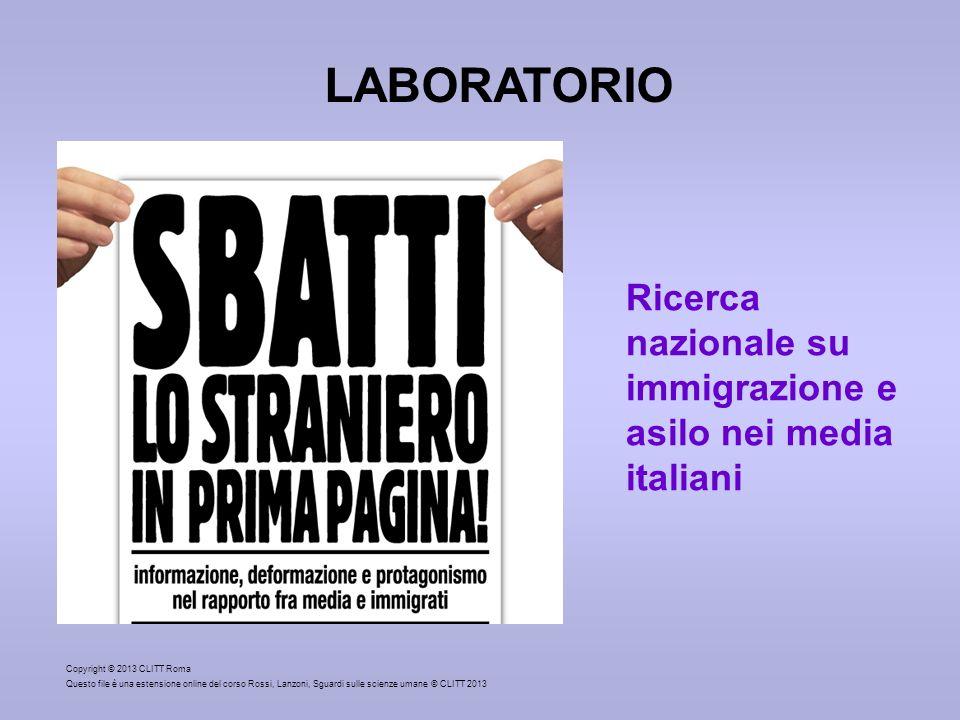 Copyright © 2013 CLITT Roma Questo file è una estensione online del corso Rossi, Lanzoni, Sguardi sulle scienze umane © CLITT 2013 LABORATORIO Ricerca