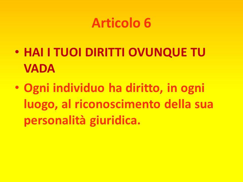 Articolo 5 NESSUNA TORTURA Nessun individuo potrà essere sottoposto a tortura o a trattamento o a punizioni crudeli, inumane o degradanti.