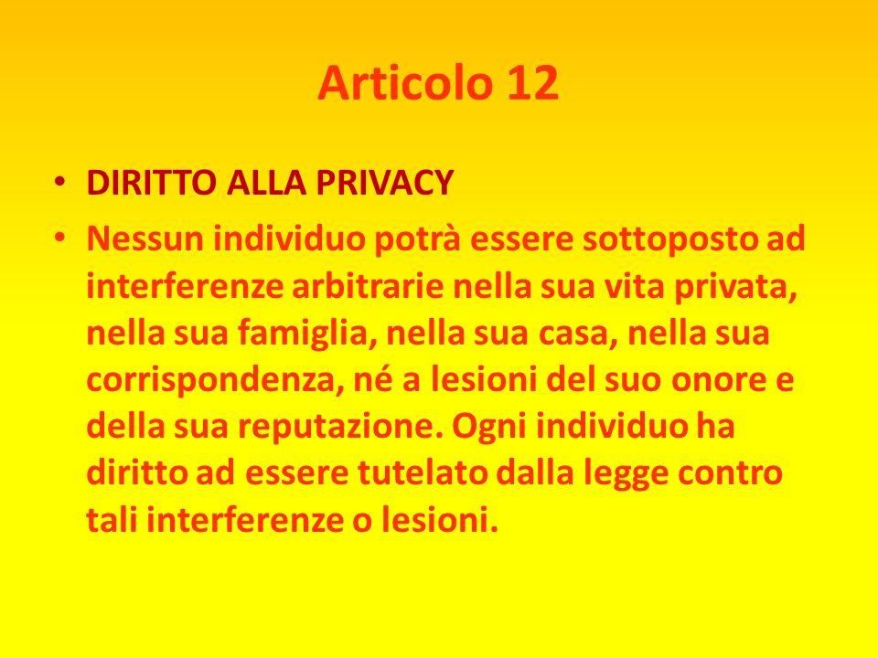 Articolo 11 INNOCENTE FINCHÉ DIMOSTRATO 1) Ogni individuo accusato di un reato è presunto innocente sino a che la sua colpevolezza non sia stata prova