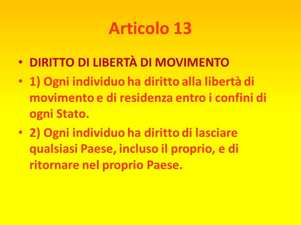 Articolo 12 DIRITTO ALLA PRIVACY Nessun individuo potrà essere sottoposto ad interferenze arbitrarie nella sua vita privata, nella sua famiglia, nella