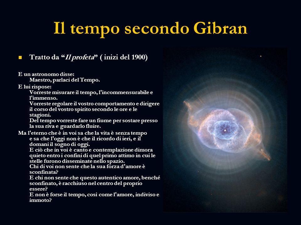 Il tempo secondo Gibran Tratto da Il profeta ( inizi del 1900) Tratto da Il profeta ( inizi del 1900) E un astronomo disse: Maestro, parlaci del Tempo.