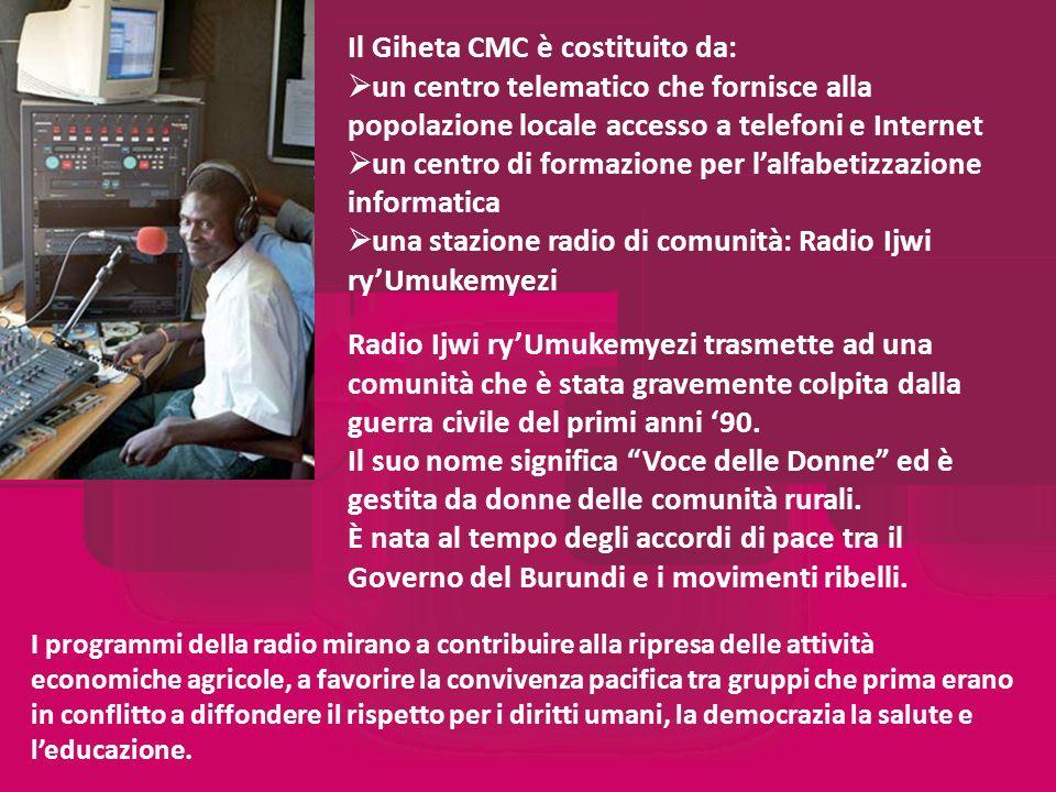 I programmi della radio mirano a contribuire alla ripresa delle attività economiche agricole, a favorire la convivenza pacifica tra gruppi che prima erano in conflitto a diffondere il rispetto per i diritti umani, la democrazia la salute e leducazione.
