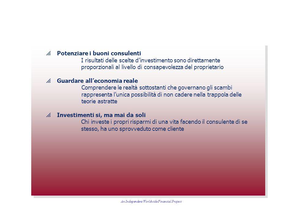 Potenziare i buoni consulenti I risultati delle scelte dinvestimento sono direttamente proporzionali al livello di consapevolezza del proprietario Gua