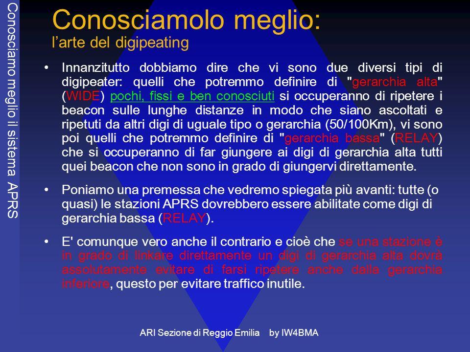 ARI Sezione di Reggio Emilia by IW4BMA Conosciamolo meglio: larte del digipeating Innanzitutto dobbiamo dire che vi sono due diversi tipi di digipeate