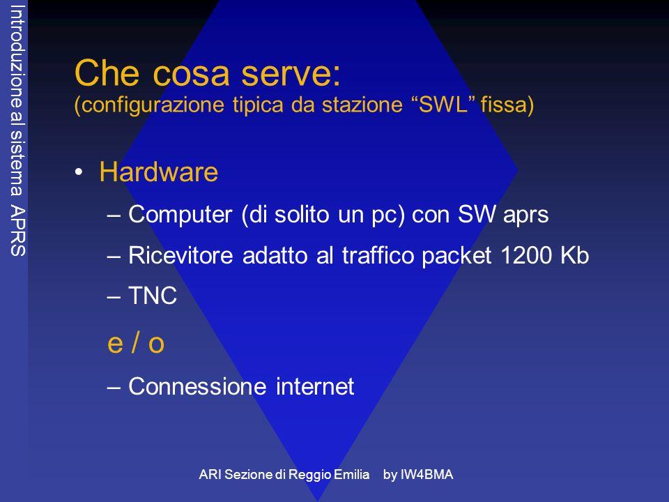 ARI Sezione di Reggio Emilia by IW4BMA Come funziona: esempio tipico di stazione fissa che traccia 2 stazioni mobili.