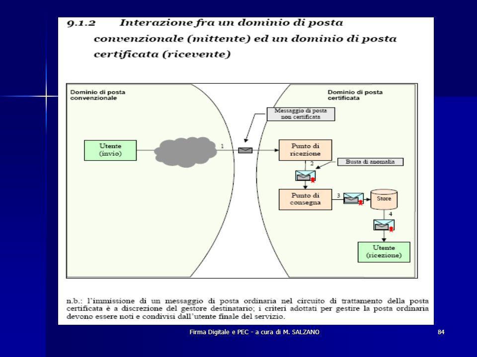 Firma Digitale e PEC - a cura di M. SALZANO84