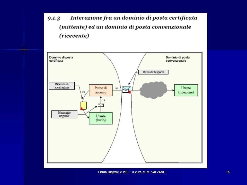 Firma Digitale e PEC - a cura di M. SALZANO85