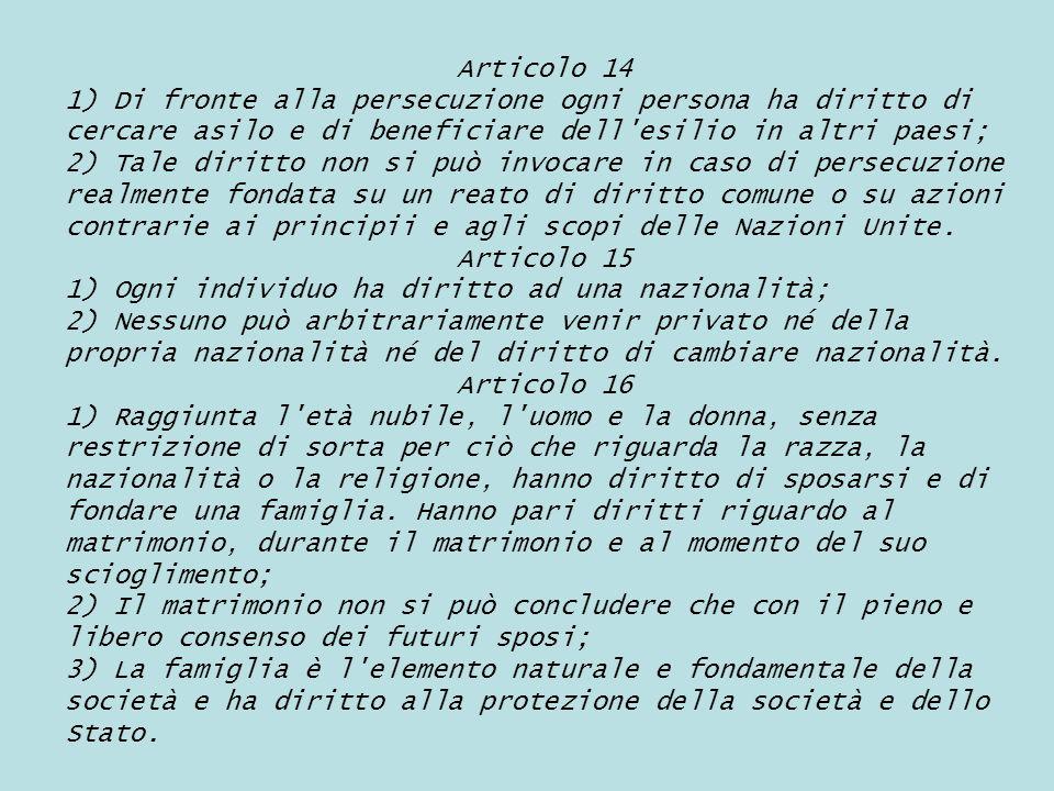 Articolo 17 1) Ogni persona, tanto sola quanto in collettività, ha diritto alla proprietà; 2) Nessuno può arbitrariamente esser privato della sua proprietà.