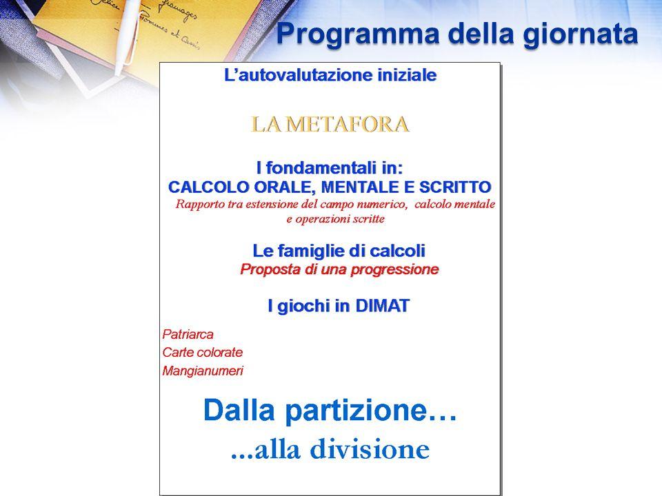 12/03/2014 Corso DIMAT 72 La divisione: interrogativi A quali concetti, quale padronanza, miriamo.