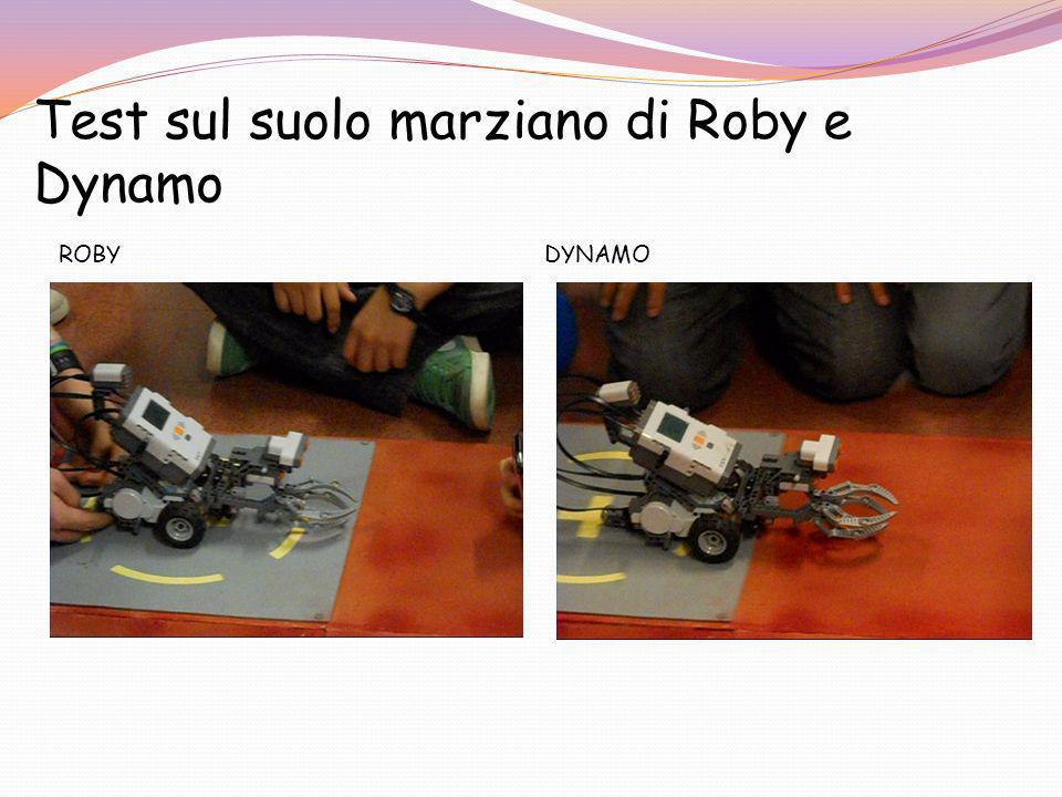 Test sul suolo marziano di Roby e Dynamo ROBY DYNAMO