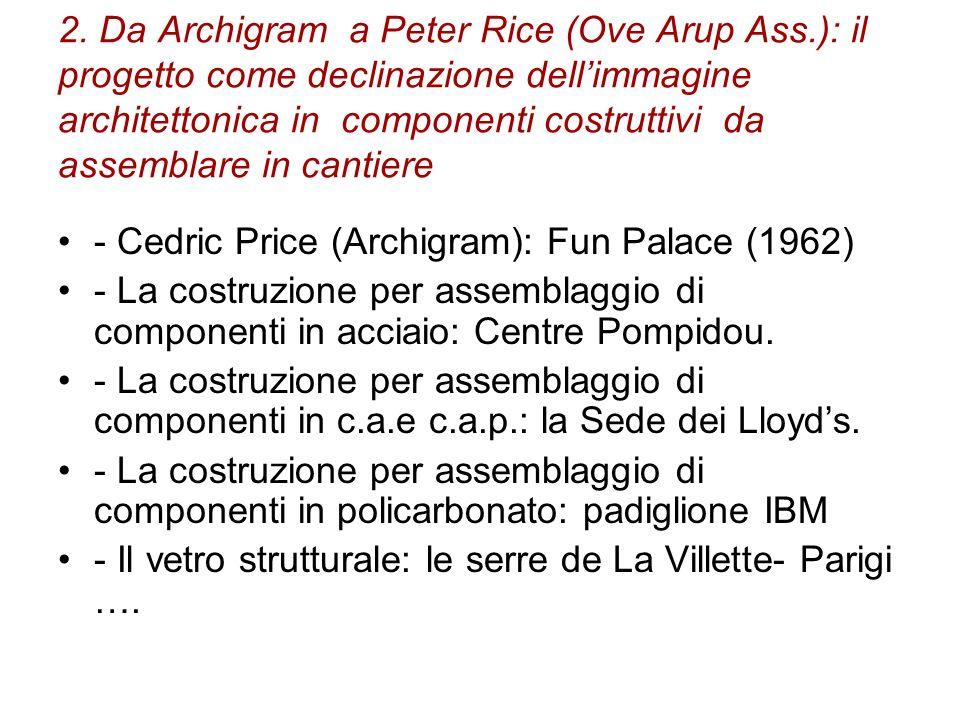 2. Da Archigram a Peter Rice (Ove Arup Ass.): il progetto come declinazione dellimmagine architettonica in componenti costruttivi da assemblare in can