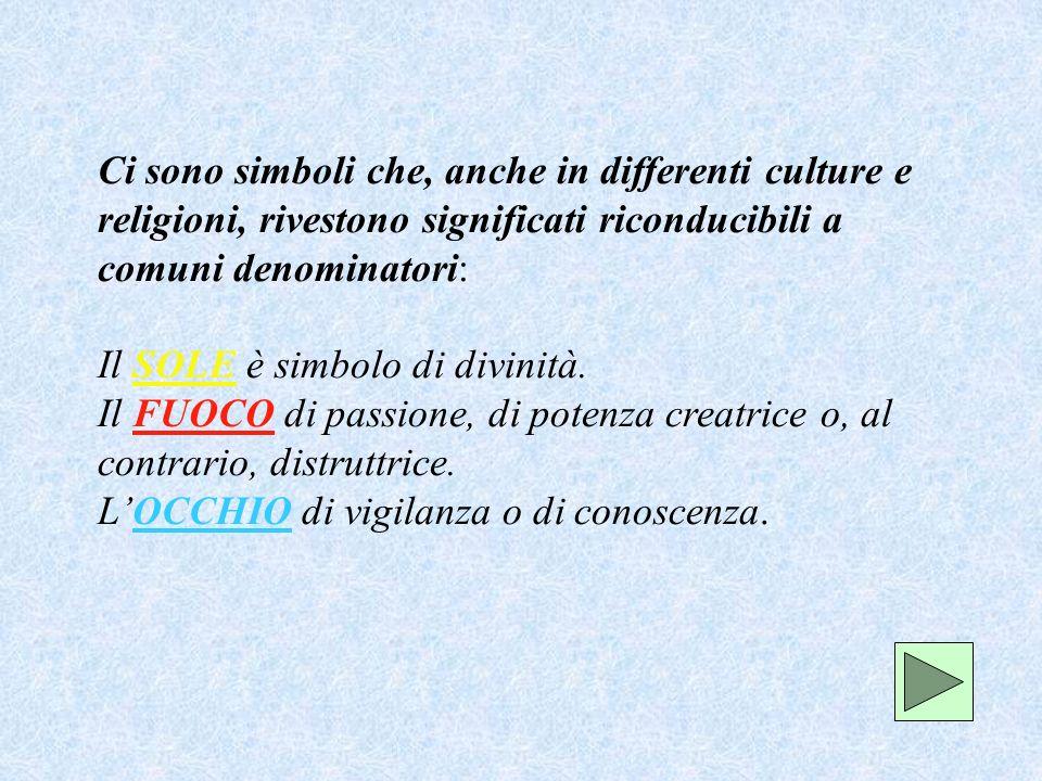 Locchio, organo della percezione sensibile, è universalmente simbolo della percezione intellettuale.