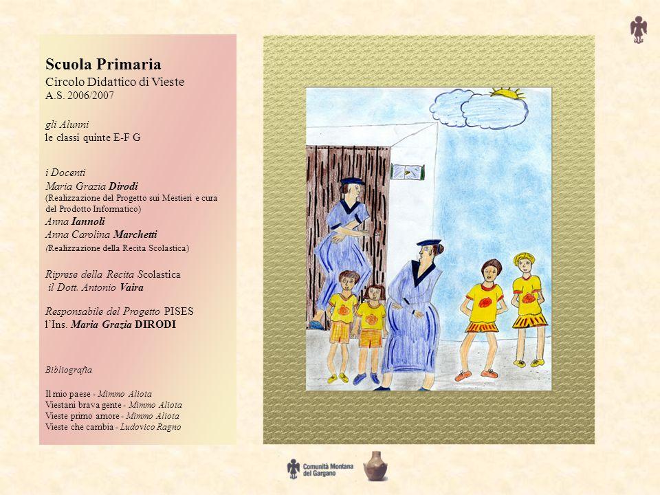 Scuola Primaria Circolo Didattico di Vieste A.S. 2006/2007 gli Alunni le classi quinte E-F G i Docenti Maria Grazia Dirodi (Realizzazione del Progetto