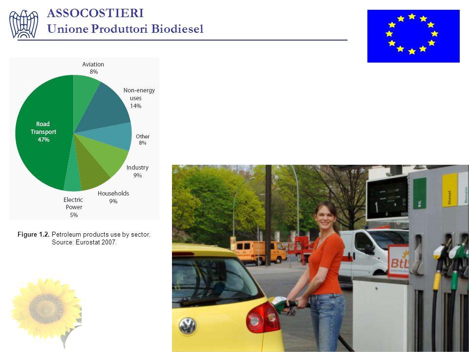 ASSOCOSTIERI Unione Produttori Biodiesel ___________________________________________________ Figure 1.2. Petroleum products use by sector, Source: Eur