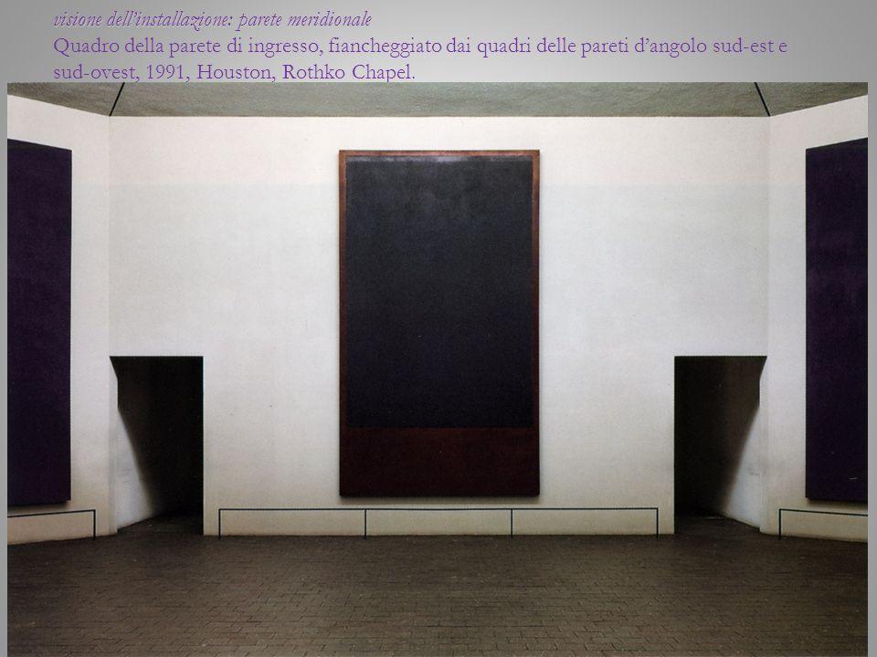 visione dellinstallazione: parete meridionale visione dellinstallazione: parete meridionale Quadro della parete di ingresso, fiancheggiato dai quadri